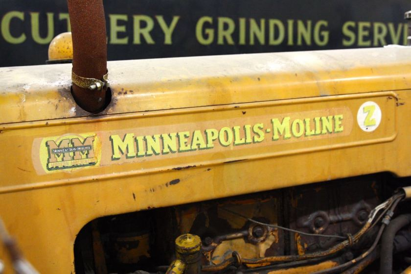 This Z Series Minneapolis Moline tractor is among the farm implements in the Records Center.