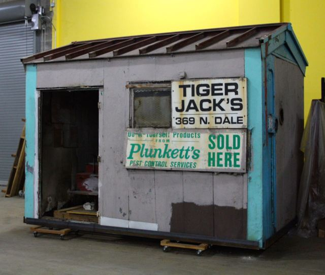 """Tiger Jack"" Rosenbloom shined shoes and sold various and sundry items like charcoal, candy, pencils and pest control from this small store for more than 50 years. Tiger Jack's iconic shack was located at 369 Dale Street North, (Dale and St. Anthony Street) just north of I-94 at Dale and was the last business in Rondo to close. Tiger Jack died in August 2001 at 94 years of age."