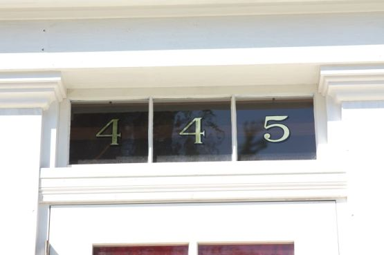 Fresh white paint and new gold address numerals were two of the most noticeable updates at the Waldman House.