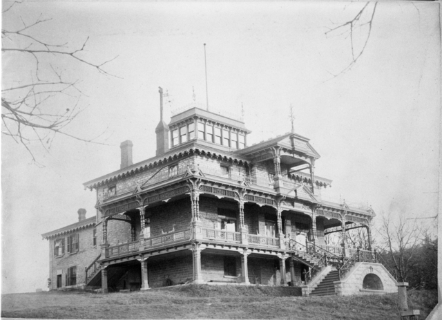The Albert Scheffer residence circa 1880., then with the address of 52 Bates, does not in the least resemble the structure standing there today.