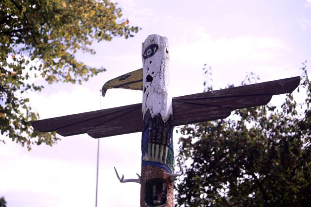 Boys Totem Town got its name from the totem poles carved from dead trees. This is the only totem pole I saw.