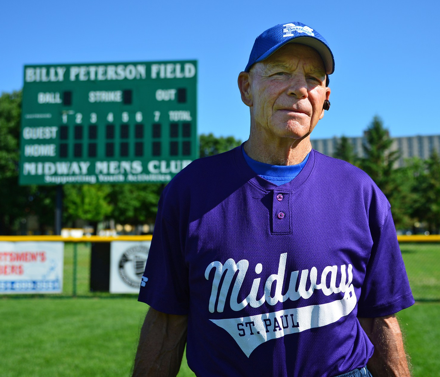 Billy Peterson, Saint Paul baseball coaching legend, worked with hundreds of city boys. Notable major leaguers Peterson coached were Dave Winfield and Paul Molitor. Courtesy Richard Sennott, StarTribune.