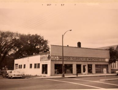 Motor Supply & Machine, 427 Rice Street, was one of many homes and businesses that were cleared to make way for Sears - at 425 Rice.