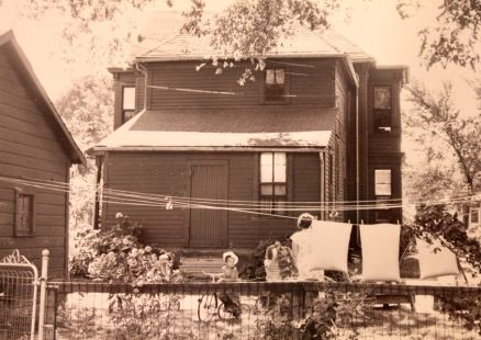 The backyard of 303-305 West Central Avenue. The house was built in 1887.