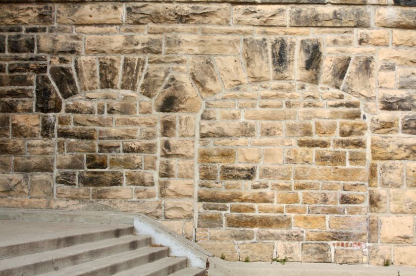 At one time there were two doors or openings from the Walnut Street Steps onto the James J. Hill property. While not difficult to see, kudos to the artisan who did the work.