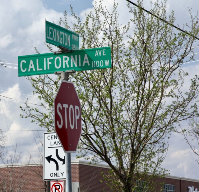California Avenue is a block south of Larpenteur, the border between Saint Paul and Roseville.