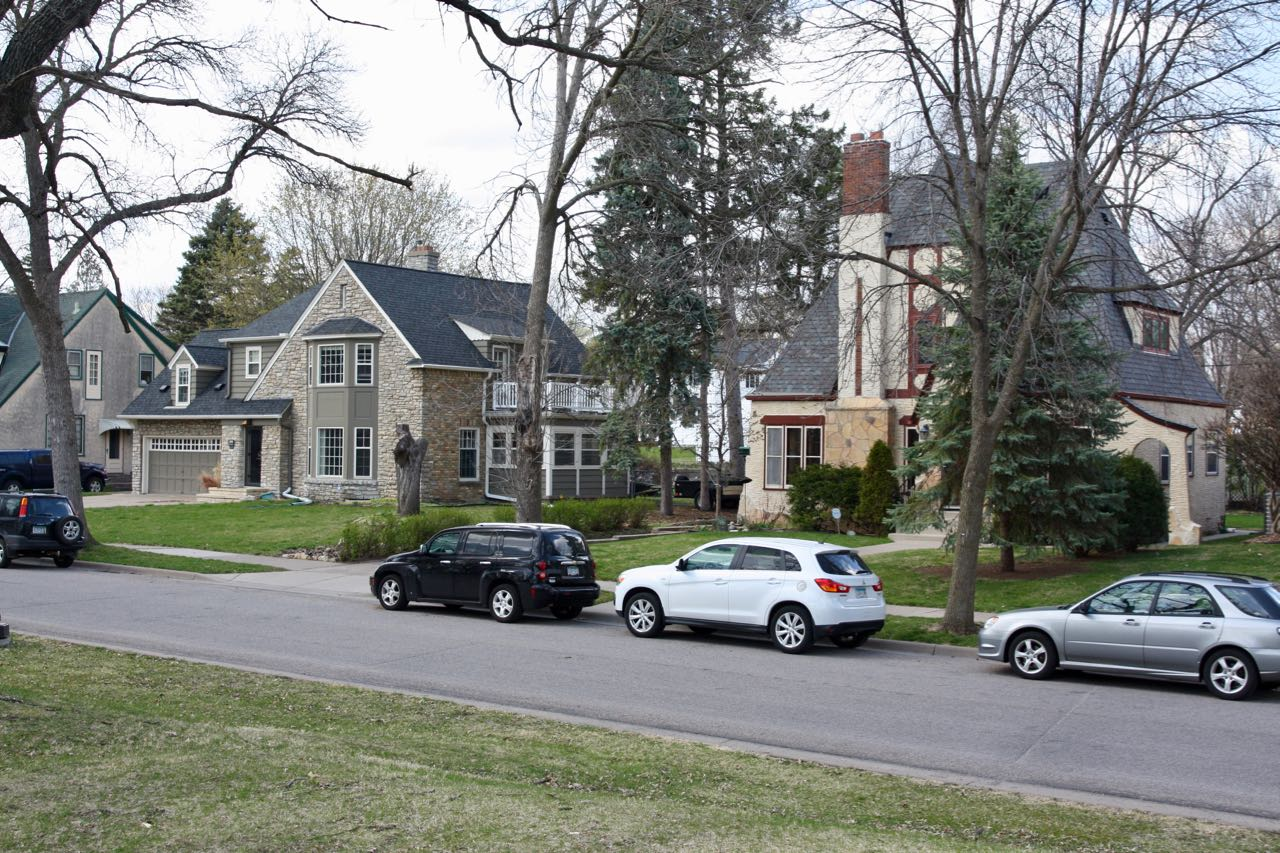 A couple of the homes in the 1000 block of Nebraska Avenue, across the street from Como Park.