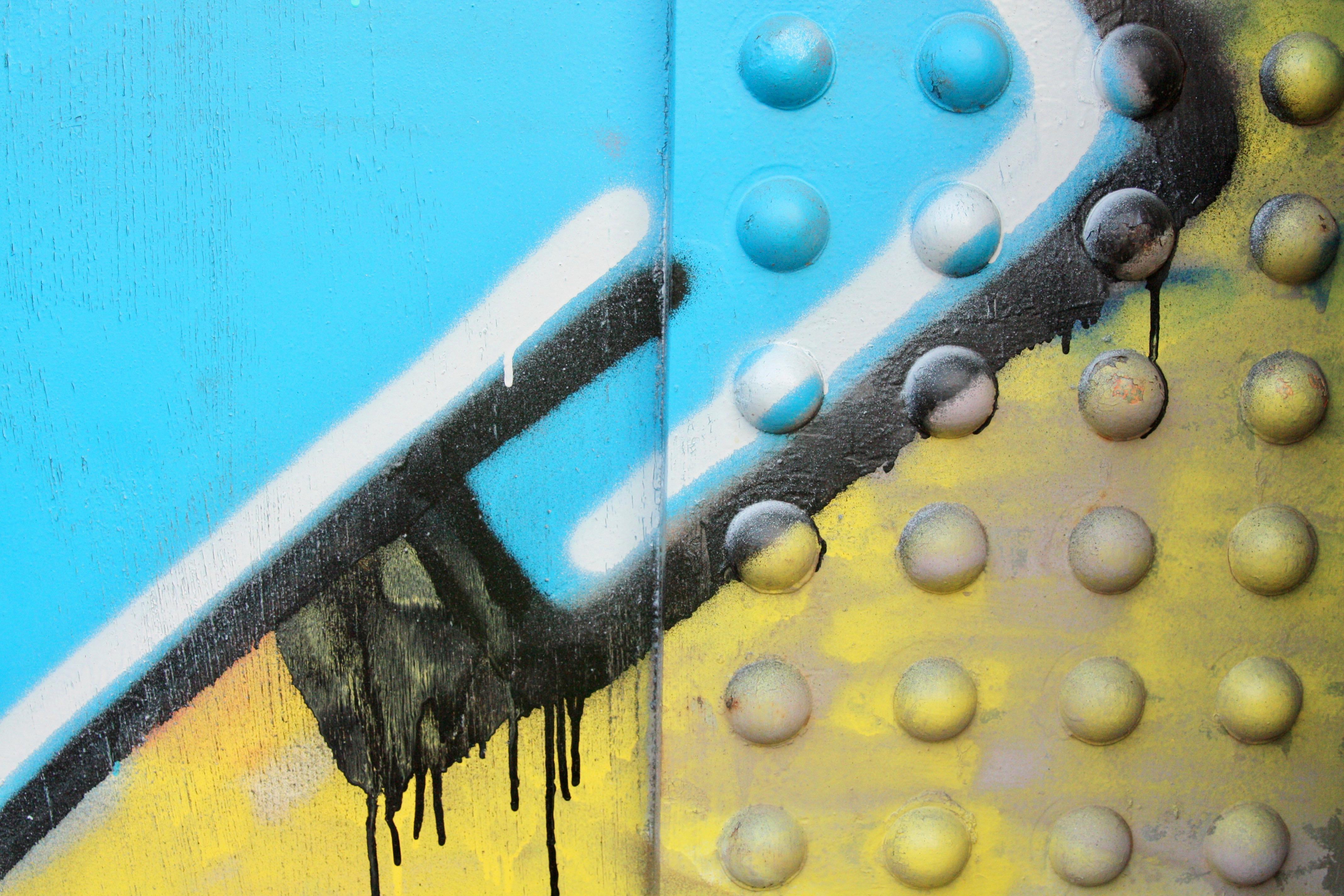 A close look at bridge graffiti.