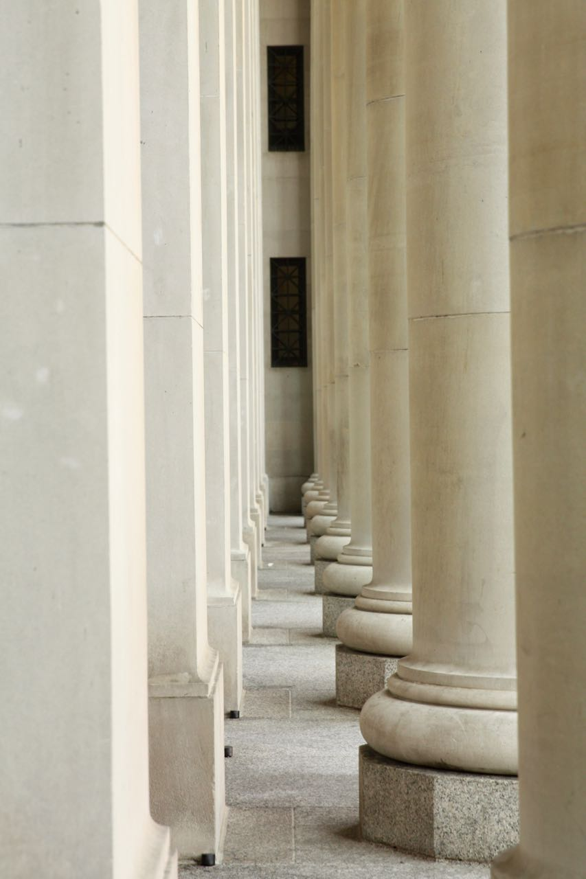 Ten Tuscan columns grace the 4th Street main entrance of Union Depot.