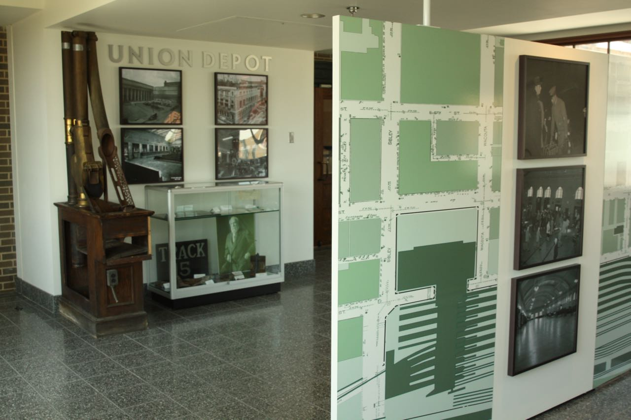 The Union Depot museum features displays, photos and artifacts of the building's 90 years.