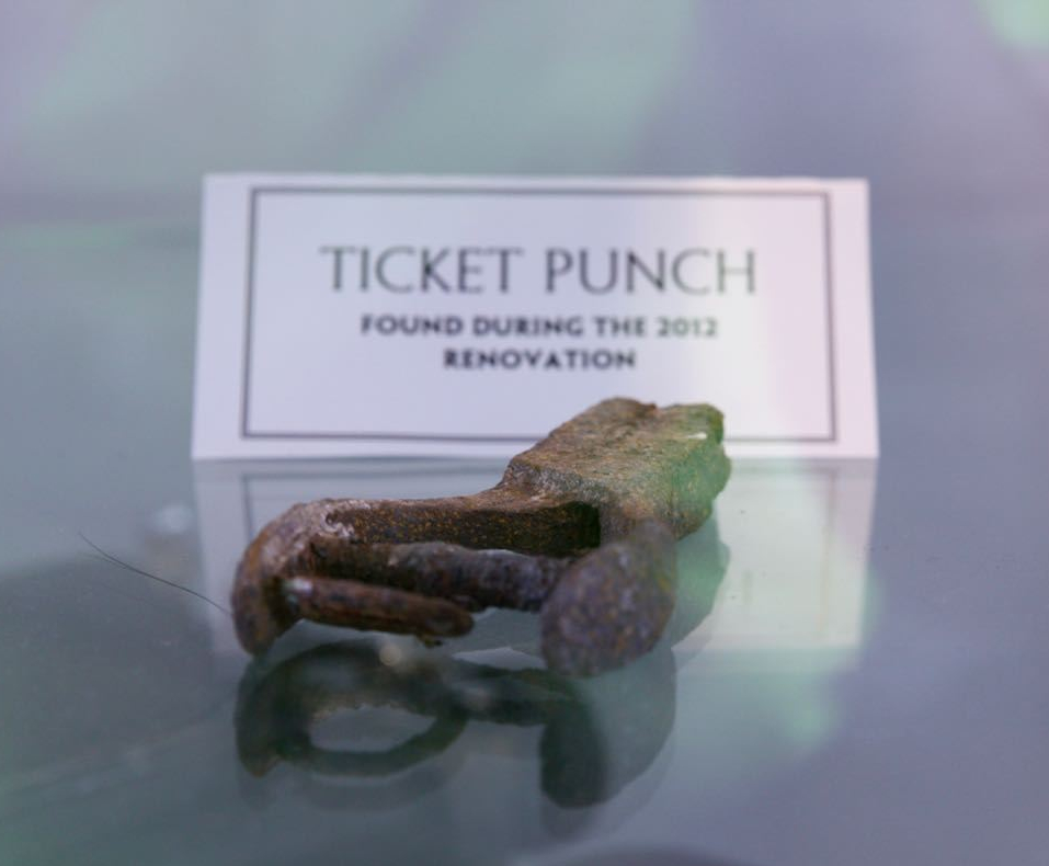 This ticket punch is one the many preserved relics found during Union Depot renovations.