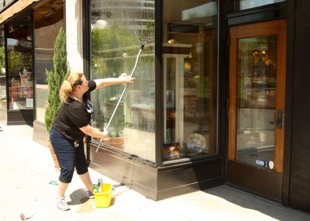 Because of the number and size of the windows, it take about 30 minutes to finish each store.