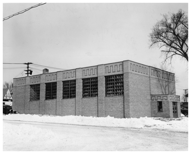 The Ober Boys Club in 1940, shortly before it opened. Courtesy Minnesota Historical Society