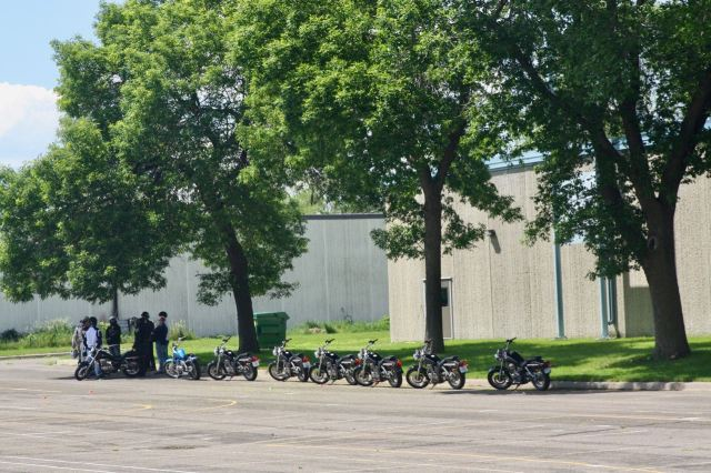 Rider Academy's motorcycle training class operates out of Biff Adams Arena, Western and Minnehaha, at the far northern edge of Frogtown.