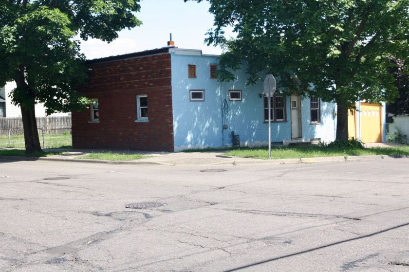 318 Front Avenue is multi-surfaced and multicolored.