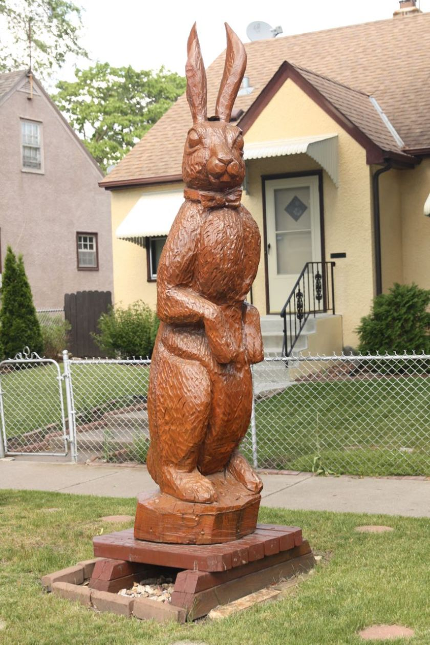This looks like a giant chocolate bunny.