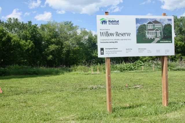 The land slated for the Willow Reserve housing project was once occupied by Larson's Garden Center.