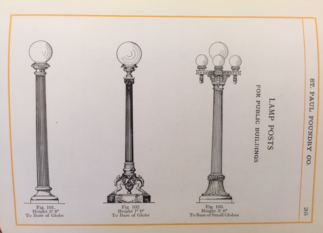 Light post casting was another successful line of products from the St. Paul Foundry.