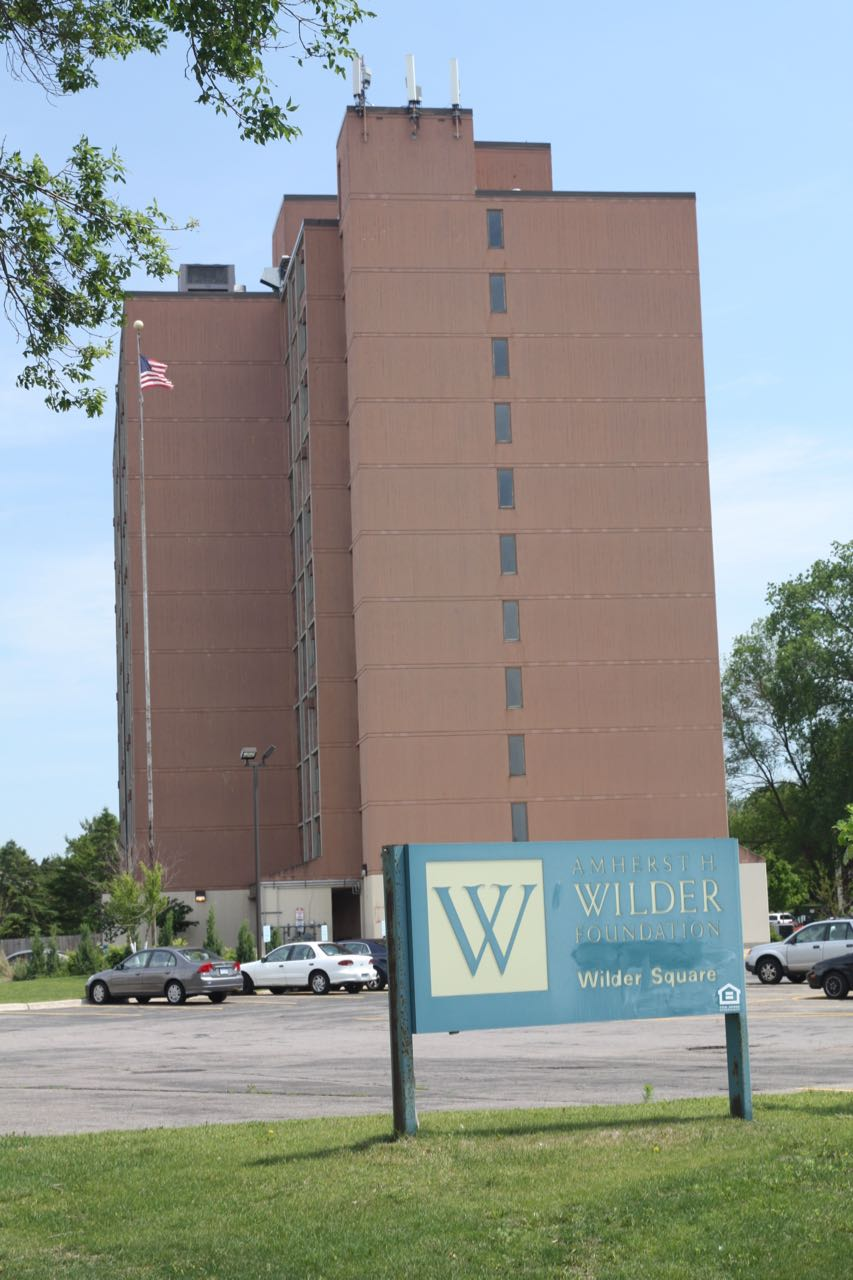 Wilder Square Co-op, built in 1974, is a 163 unit coop for low to moderate income adults and families. Located at 750 North Milton Street, it is just across Milton from the Minnehaha Mall.