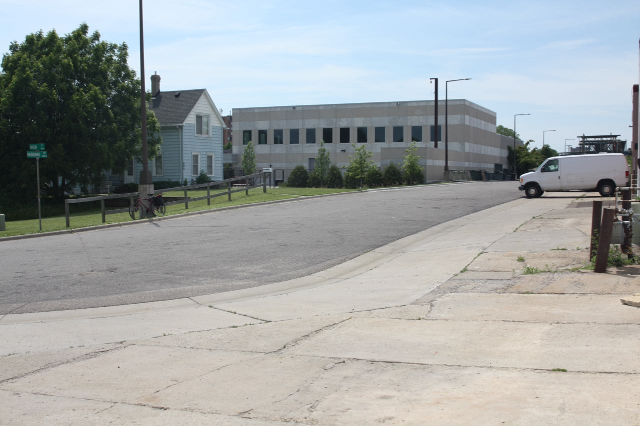 The one block of Hubbard Avenue that is north of Pierce Butler Route is light industrial with one exception.