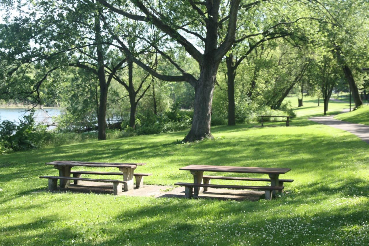 Picnic tables, a playground, bathrooms, and Loeb Lake make Marydale Park a great picnic spot.