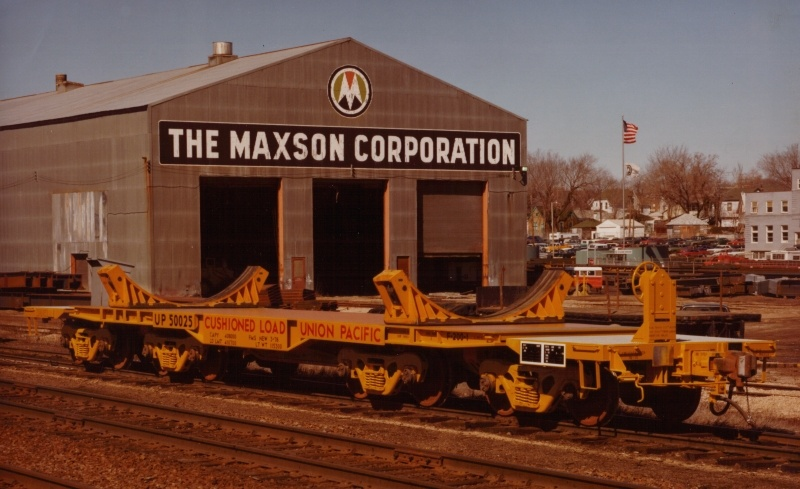 A custom rail car built by Maxson for Union Pacific Railroad. Photo courtesy Ted Larson Collection and trainweb.org