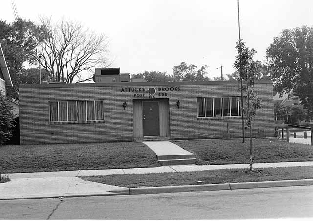 The building looks very much the same as it did in 1975 when it was the Attucks Brooks American Legion Post 606. Courtesy MNHS.