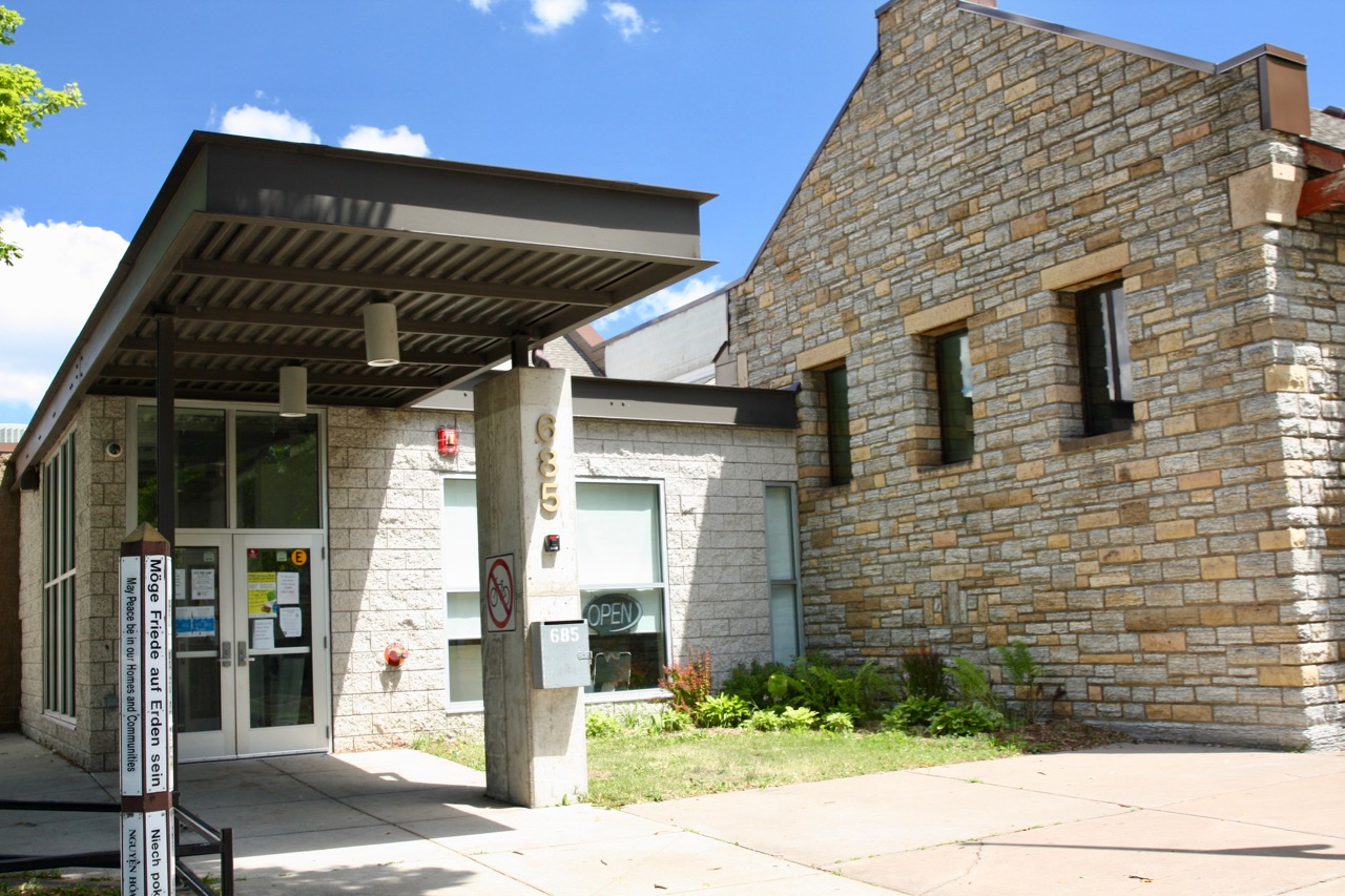 The current entrance to the rec center.
