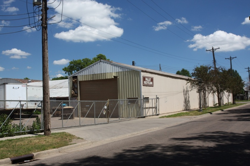 Pallet Recycling is a series of more than half a dozen buildings which occupies a large portion of Topping and Burgess Streets.