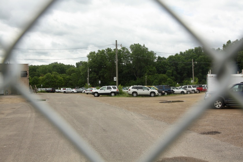 A few of what seemed to be hundreds of cars at the Barge Channel Road impound lot.