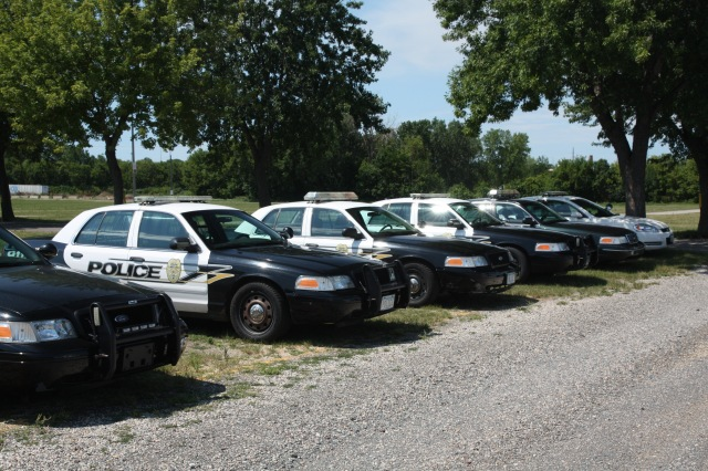 The police cars were wearing several different livery schemes.