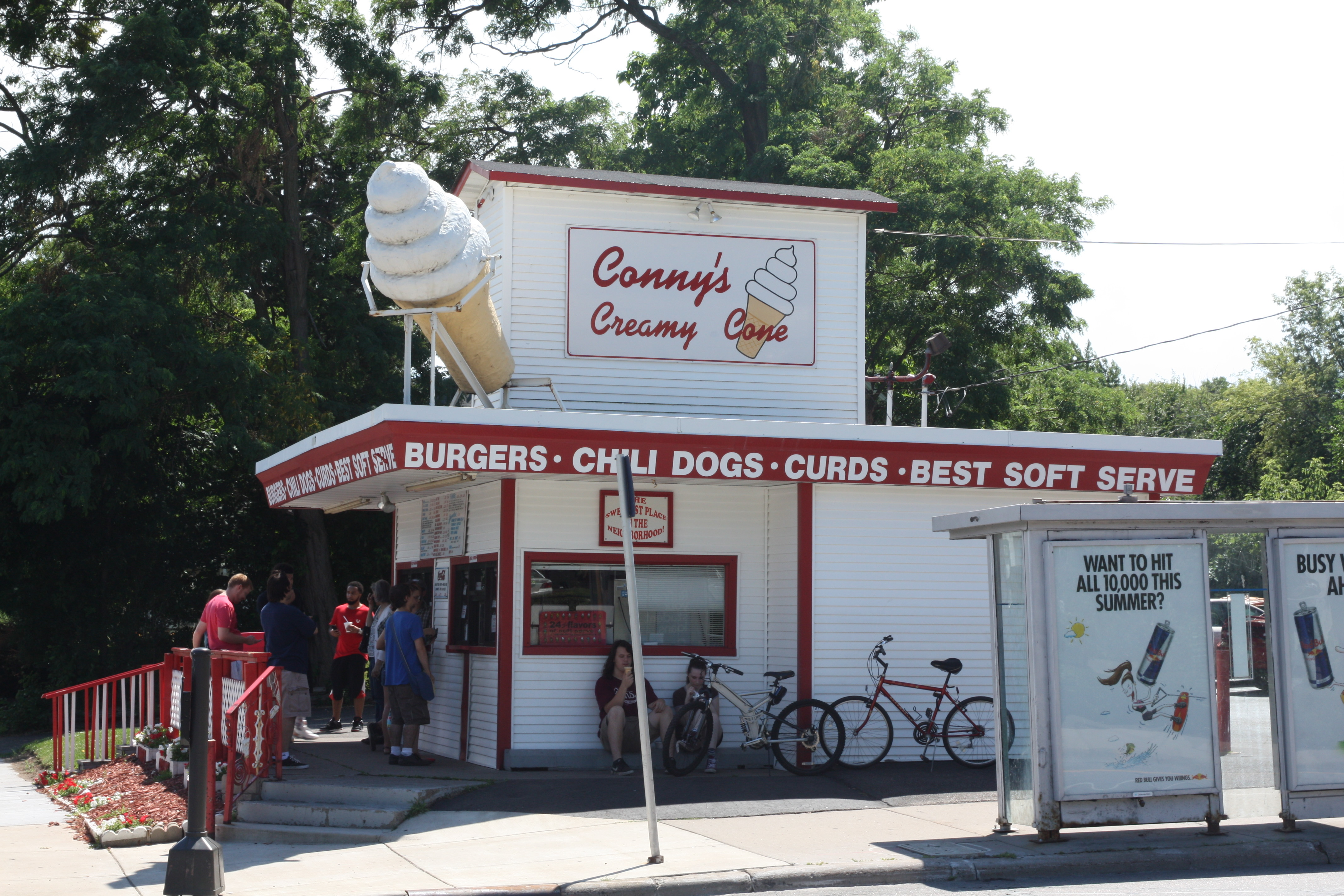 There seems to be a line all summer at Conny's Creamy Cone.