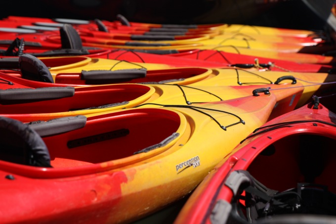 Kayak, canoe and other watercraft can be rented behind the pavilion.