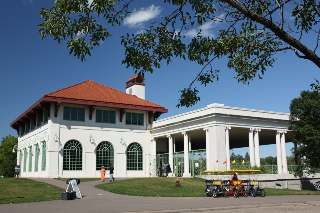The Pavilion was rebuilt in 1992 based upon architectural drawings of the 1905 structure, is very similar but with building.