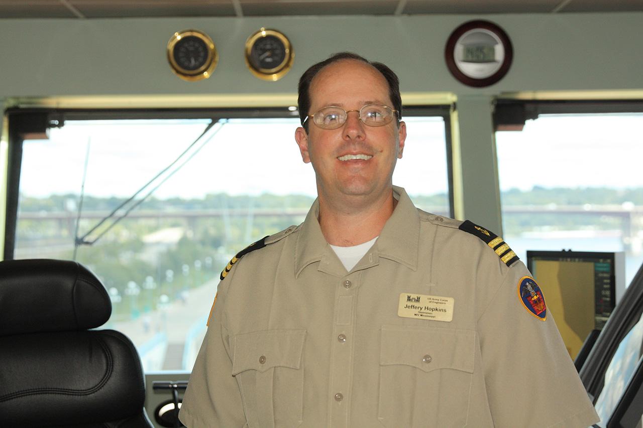 Jeffrey Hopkins, first mate-steersman of the M/V Mississippi.
