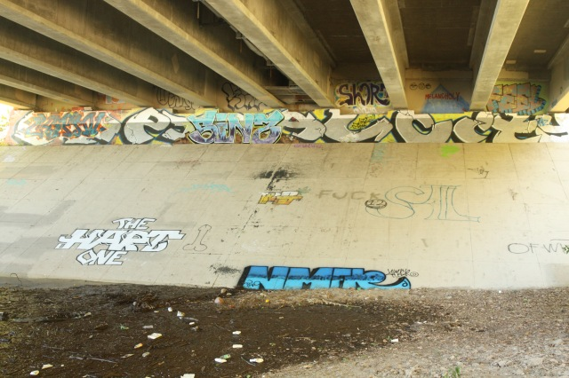 Under the Shepard Road bridge it was obvious I entered a party and painting zone.