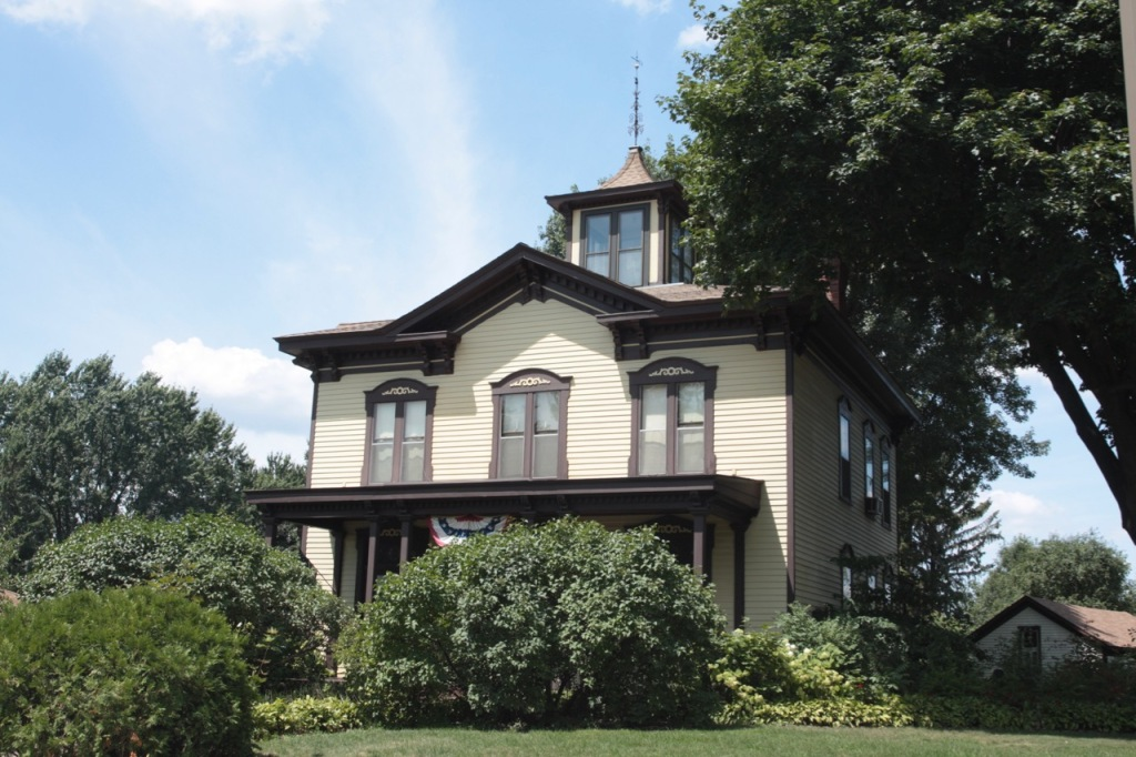 When Jacob Hinkel built the Italian Villa-style home in 1872, the road that passed by was called New Canada Road.