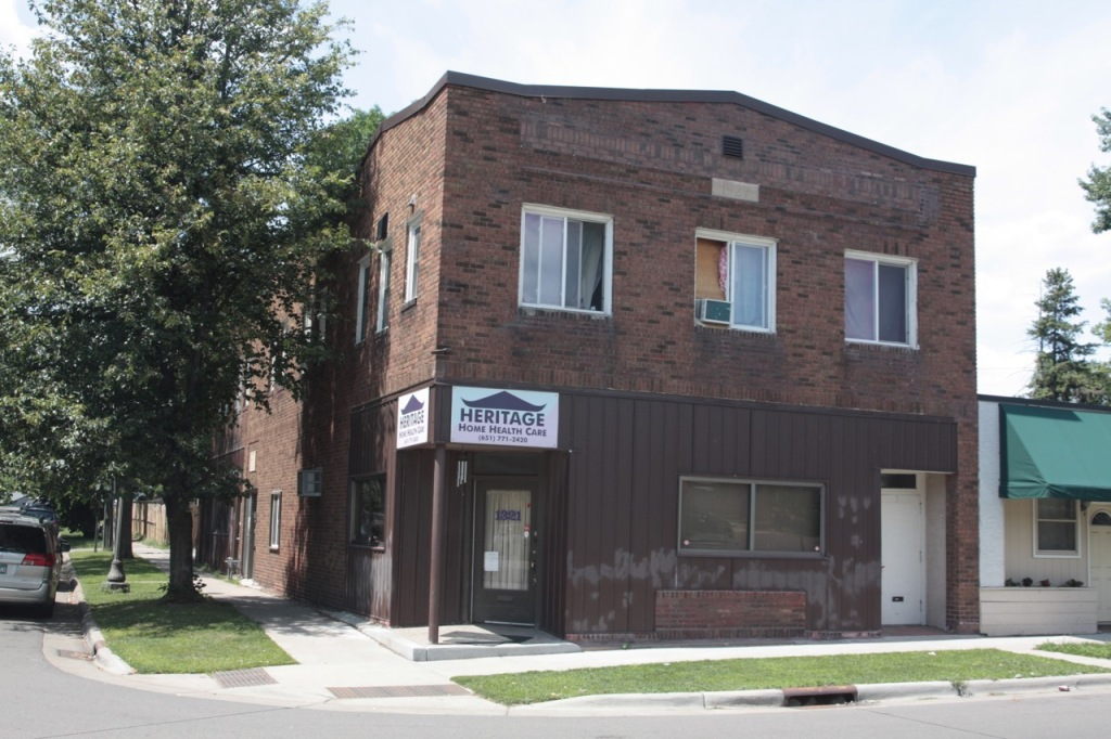 The Alm Building is across Payne from The Birds Nest. The building has suffered through some unfortunate changes since it was completed in 1927.