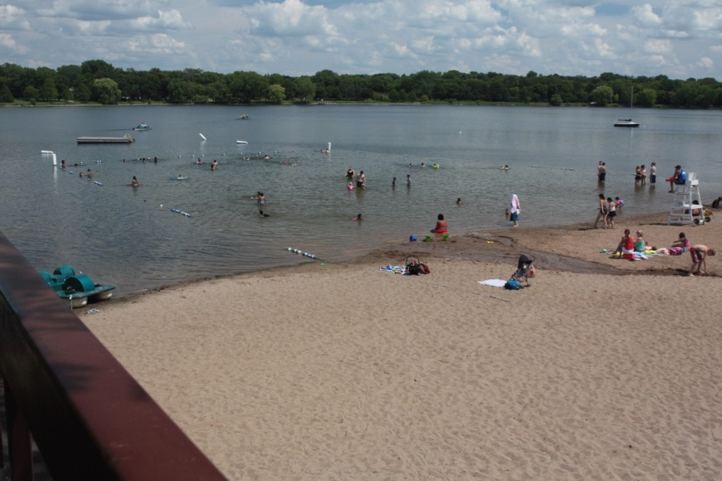 The small but very well-kept Lake Phalen beach and swimming area is on the east side of the lake.