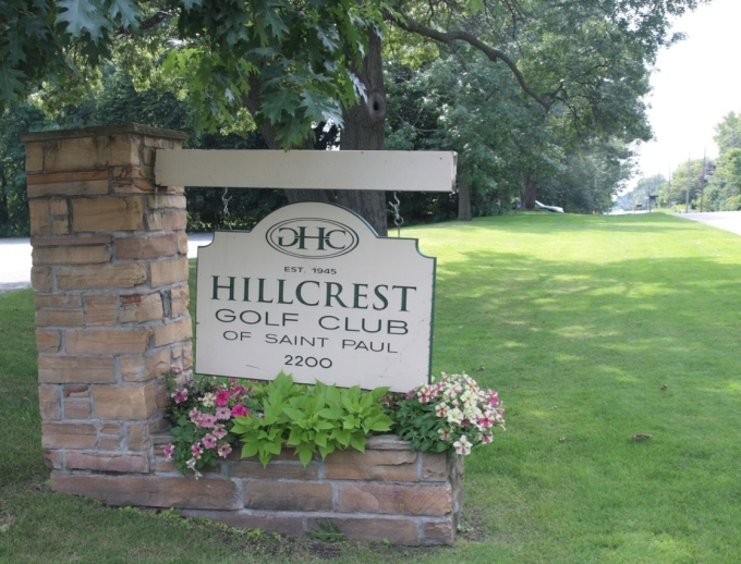 The entrance to what was the Hillcrest Golf Club at 2200 Larpenteur Avenue.