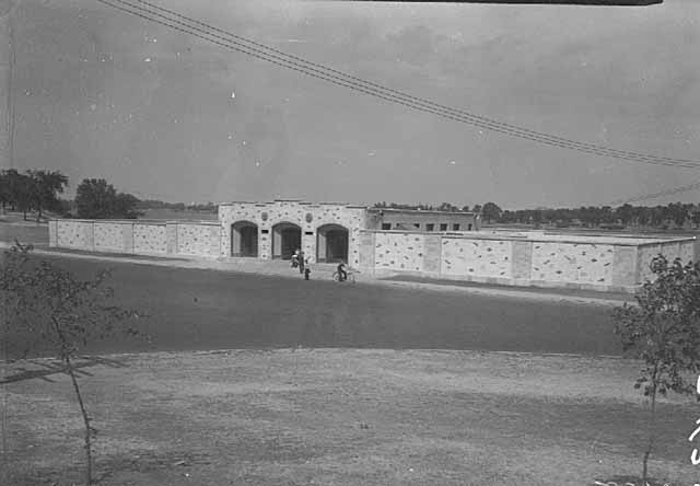 This bath house at Phalen was a 1936 WPA project.