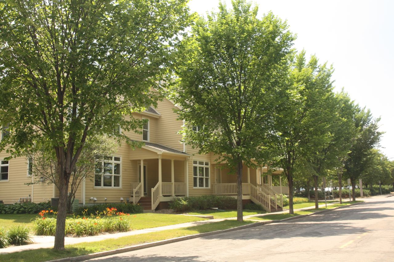 The townhomes along Cedar were built in 2002.