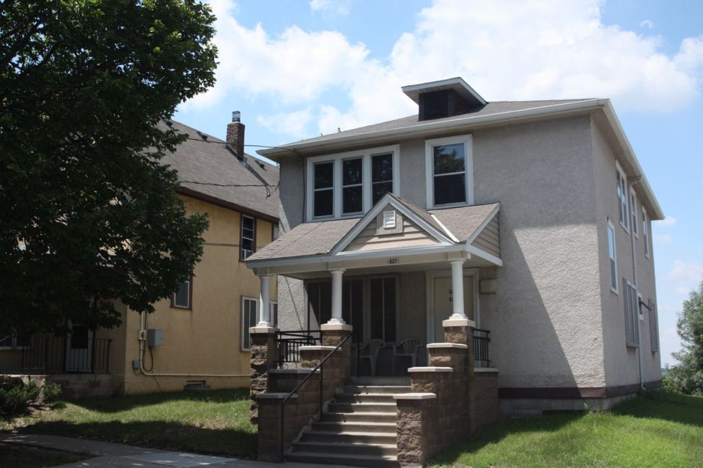 627 Wales Street is a home that preceded the Mount Airy Homes but was incorporated into the development. There are three living units within.