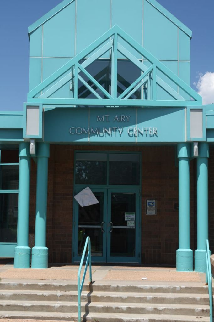 The entrance to Mt. Airy Community Center.