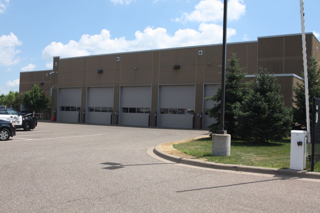 A large garage for EMS and other HealthEast vehicles