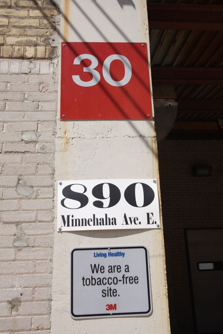 While I recognize the signs with white numbers on red as belonging to 3M, the sign below the address confirmed it.