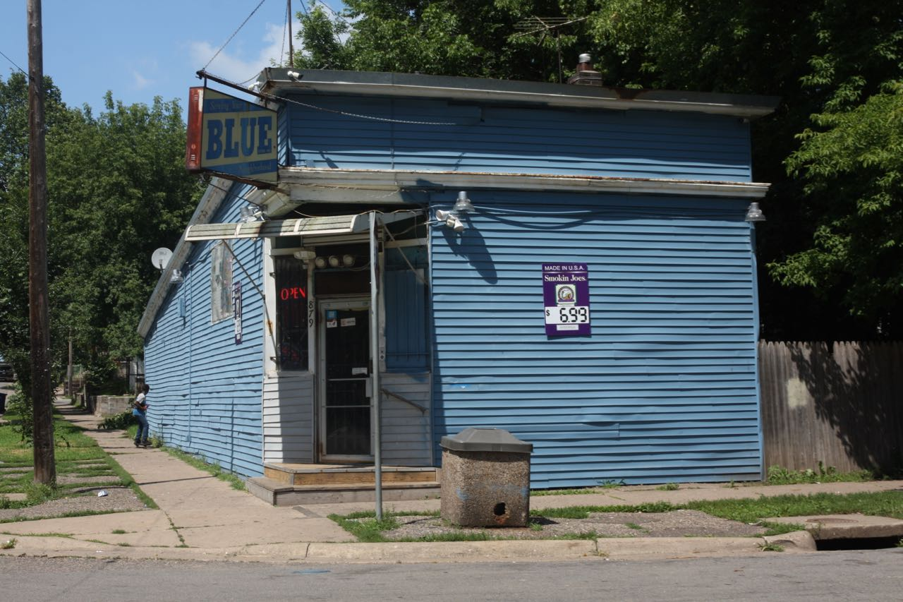 The Blue Store at 879 Fremont Avenue. It's really blue, almost everywhere on the exterior.