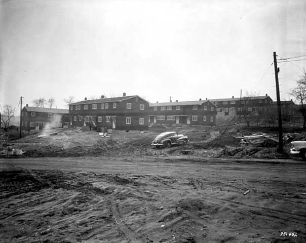 Construction of Mount Airy Homes in 1958. Courtesy Minnesota Historical Society