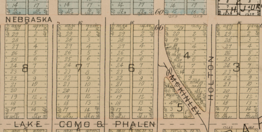 Surprisingly, the block in question of McKinley Street has been a diagonal between Holton and Pascal.