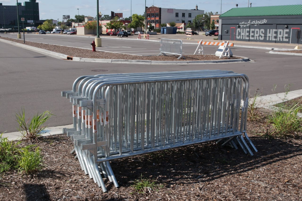 While these new streets are public, they become less so on soccer days or nights. Numerous barricades go up to restrict or eliminate motor vehicles.